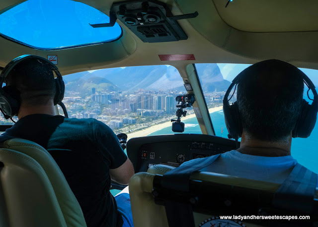 On board a 5-seater helicopter