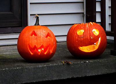 Carved pumpkins,