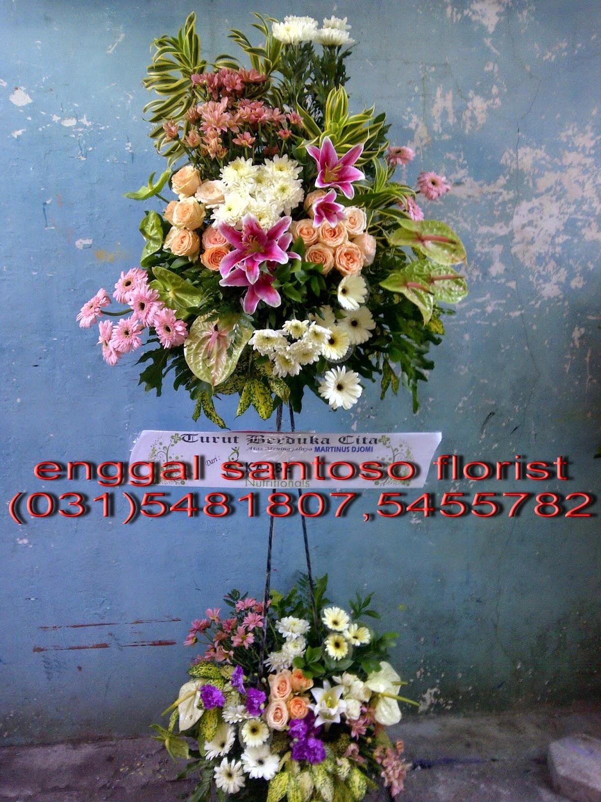toko rangkaian karangan bunga standing surabaya