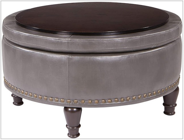 Round Coffee Table with Ottomans