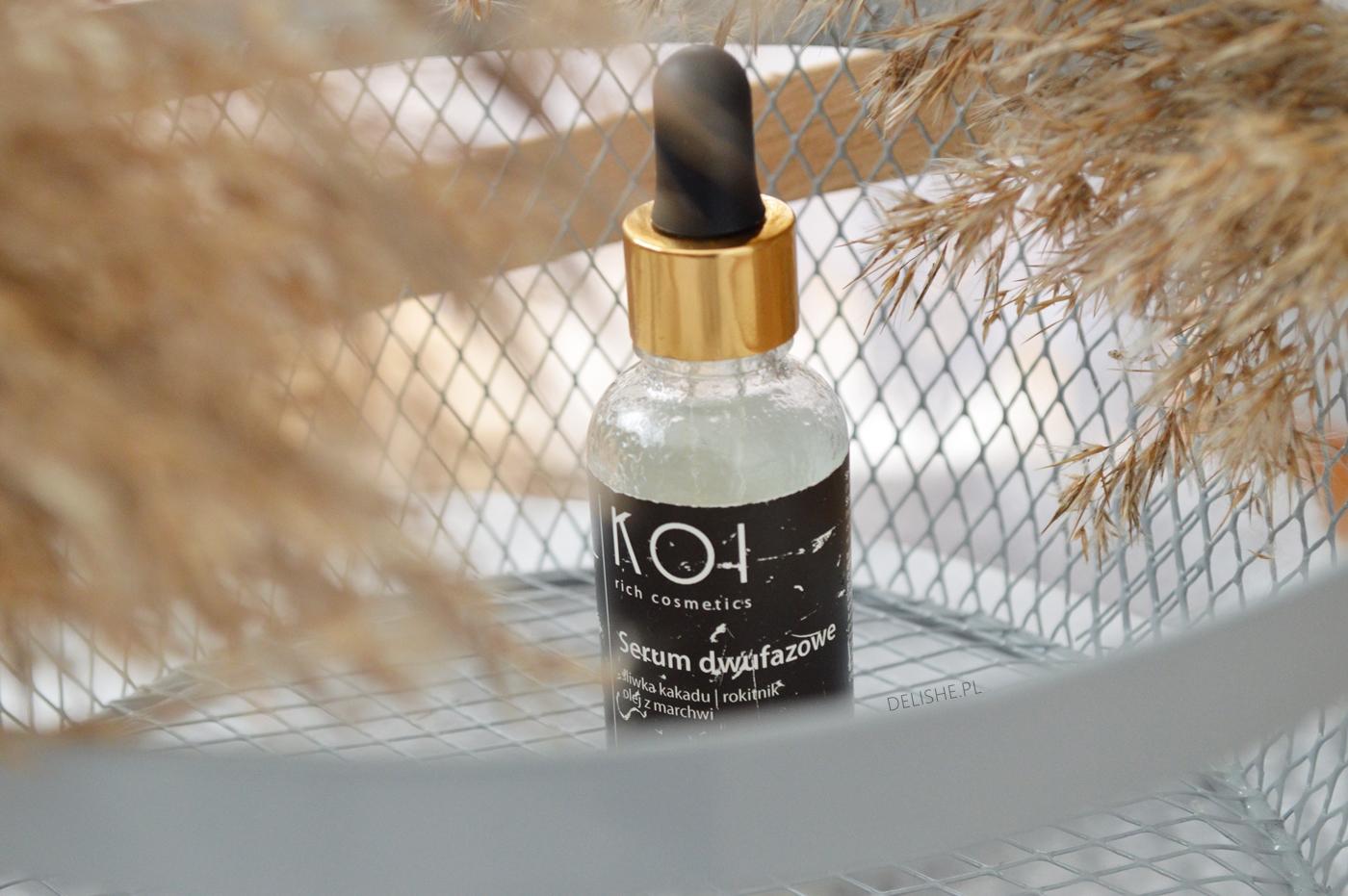 wieczorna pielęgnacja twarzy KOI Cosmetics serum