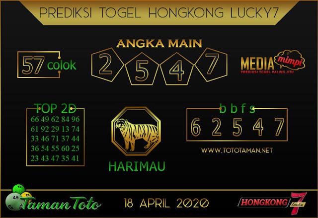 Prediksi Togel HONGKONG LUCKY 7 TAMAN TOTO 18 APRIL 2020
