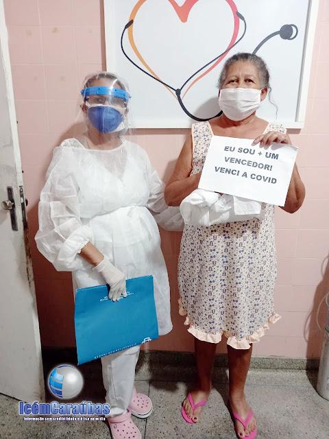 Aos 59 anos, mulher da Cidade de Frutuoso Gomes vence a covid-19 no Hospital de Caraúbas