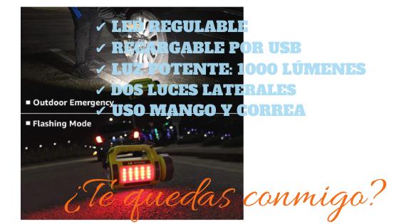 LE Linterna Recargable 1000lm LED Regulable
