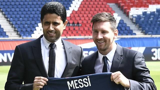 Presidente do PSG apresentou Messi com 'recado' para Mbappé