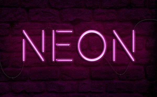 neon teks efek