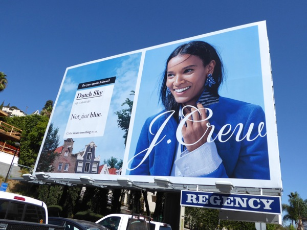 J Crew Dutch Sky Not just blue FW16 billboard