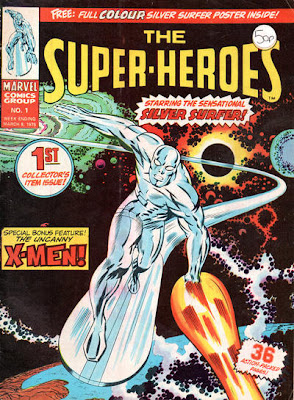 Marvel UK, Super-Heroes #1, The Silver Surfer, Jack Kirby cover