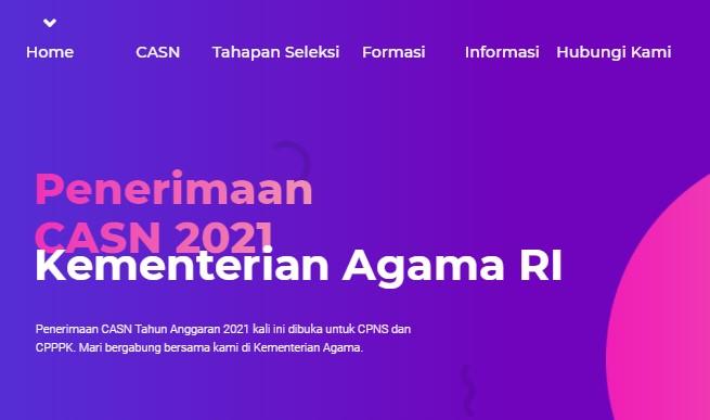 Formasi CPNS dan PPPK Kementerian Agama RI 2021