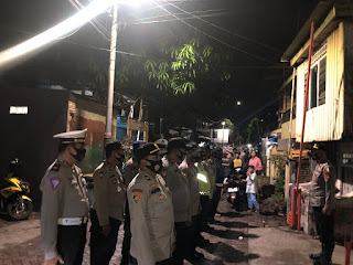 Cegah Kriminalitas, Polres Pelabuhan Makassar Gencar Patroli Malam