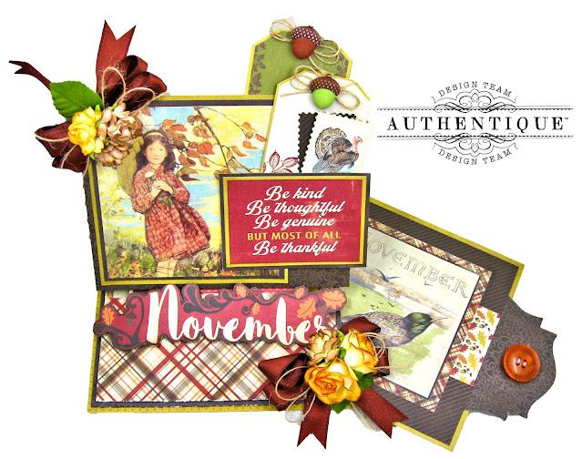Authentique November Desk Calendar Kathy Clement Photo 01