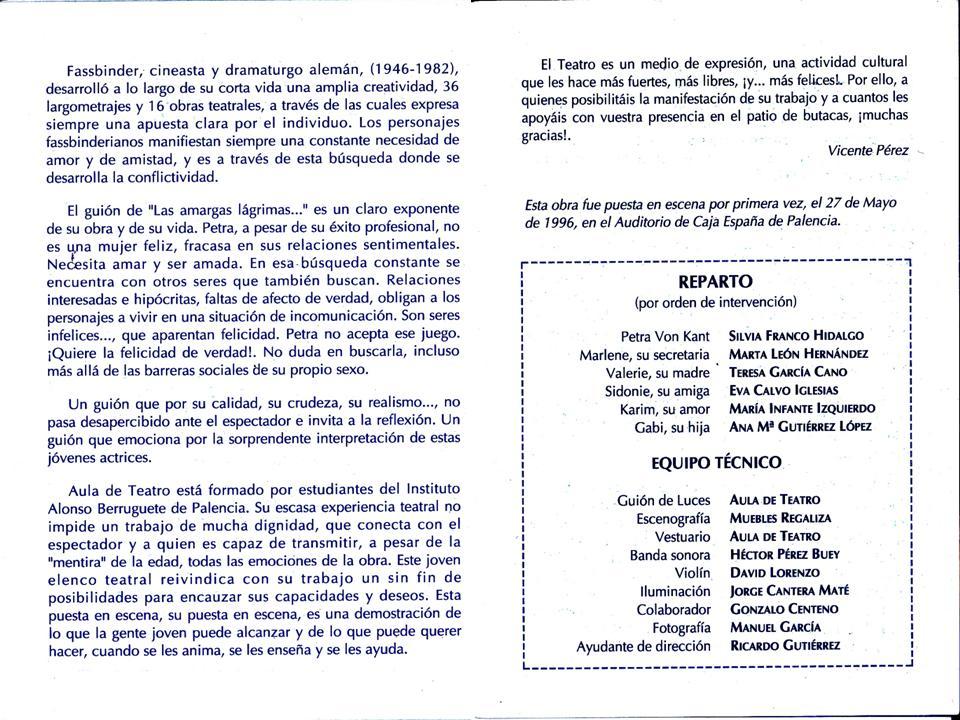 Grupo aficionado Aula Teatro Alonso Berruguete, de Palencia.