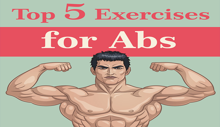 Top 5 Exercises For Better Abs #infographic