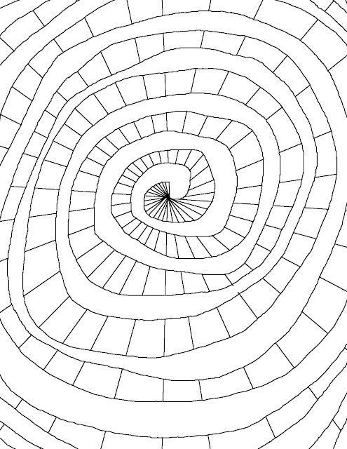 Coloring Page World Color Spiral