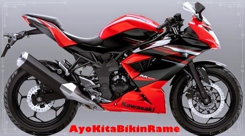 Gambar Foto Motor Kawasaki Ninja 250 RR Mono ABS Warna Merah