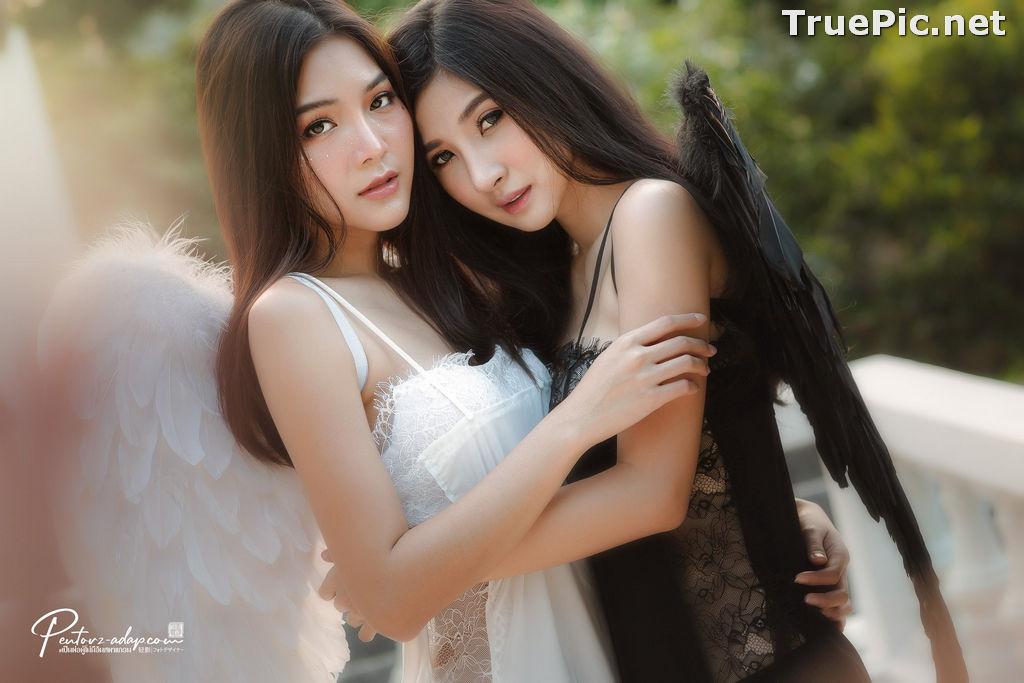 Image Thailand Model - Phitchamol Srijantanet and Pattamaporn Keawkum - Angel and Demon - TruePic.net - Picture-1