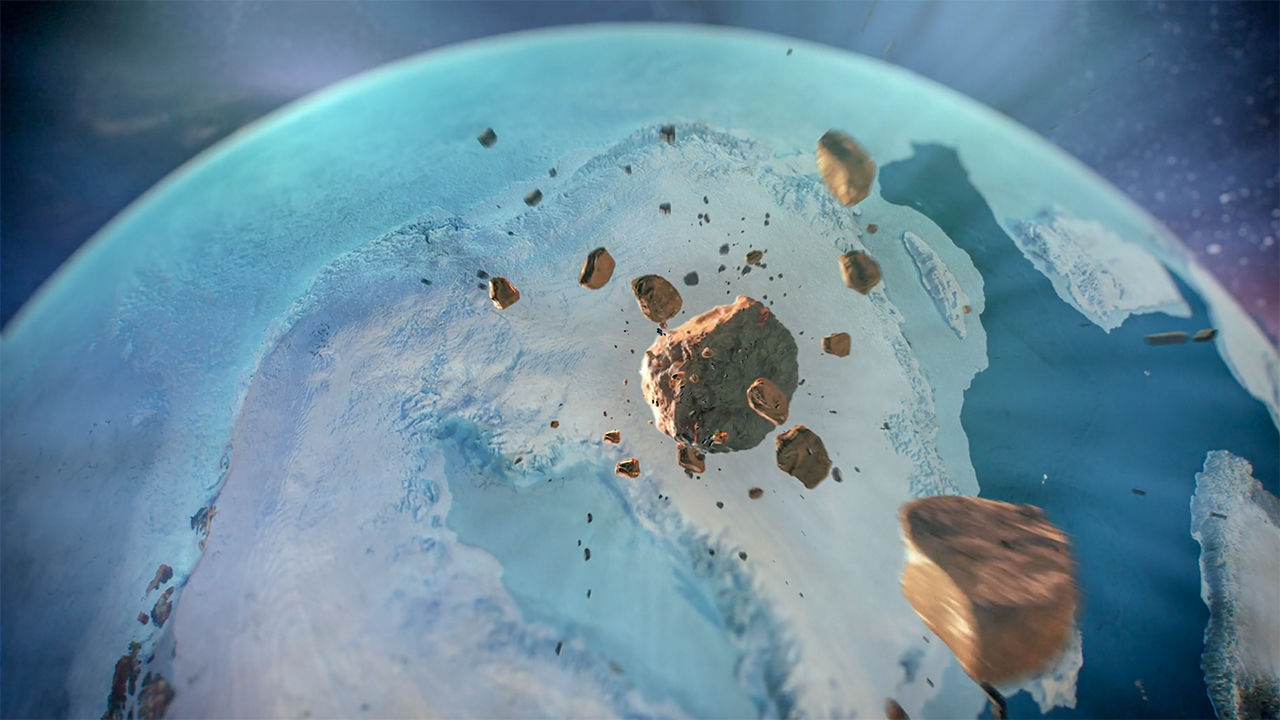 Gigantic Crater Hidden Under Greenland's Ice Might Affect Climate Change
