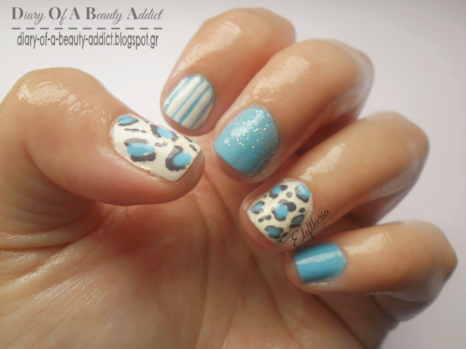 Blue Mix and Match Nails ▎Simply Nails
