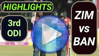 ZIM vs BAN 3rd ODI 2021