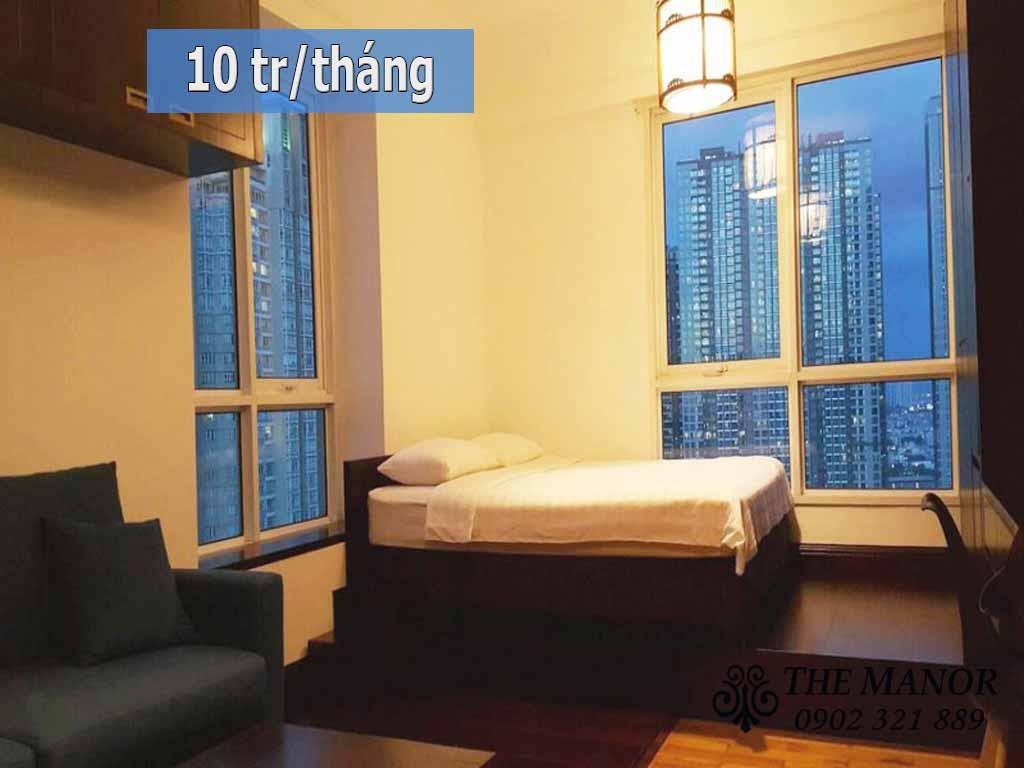 Căn hộ cho thuê studio giá rẻ quận Bình Thạnh The Manor 2