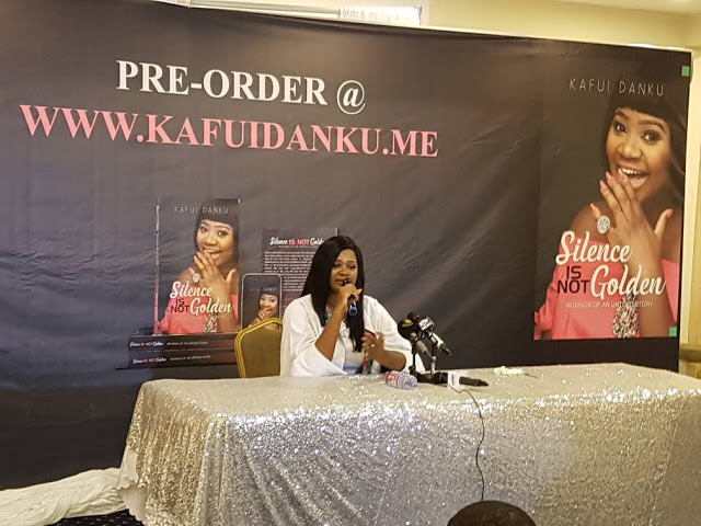 "Video: Kafui Danku unveils Her First Book Called "" Silence is Not Golden"""