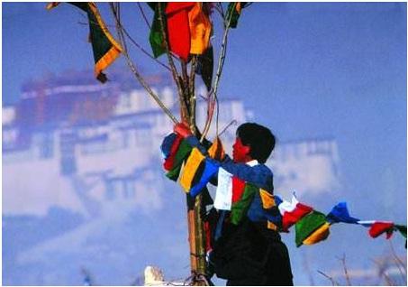 藏曆年-掛經幡