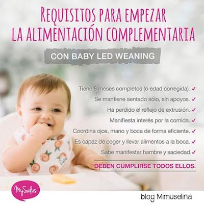 blog mimuselina requisitos para introducir la alimentación complementaria BLW Babyledweaning MySalus