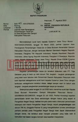 """Galian C"" Tambang Milik Teja Sekawan Ilegal, Dilaporkan Bupati Pasuruan ke Presiden Jokowi"