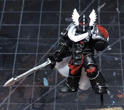 Horus Heresy Dark Angels Praetor WIP - front