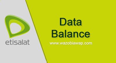 etsalat data balance
