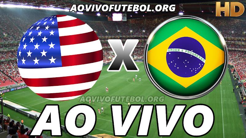 Estados Unidos x Brasil Ao Vivo Hoje em HD