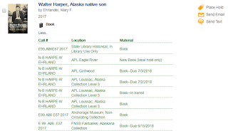 Alaska Library catalog record for Walter Harper: Alaska Native Son by Mary Ehrlander.