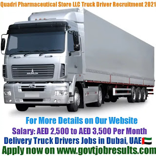 Quadri Pharmaceuticals Store LLC Delivery Truck Driver Recruitment 2021-22