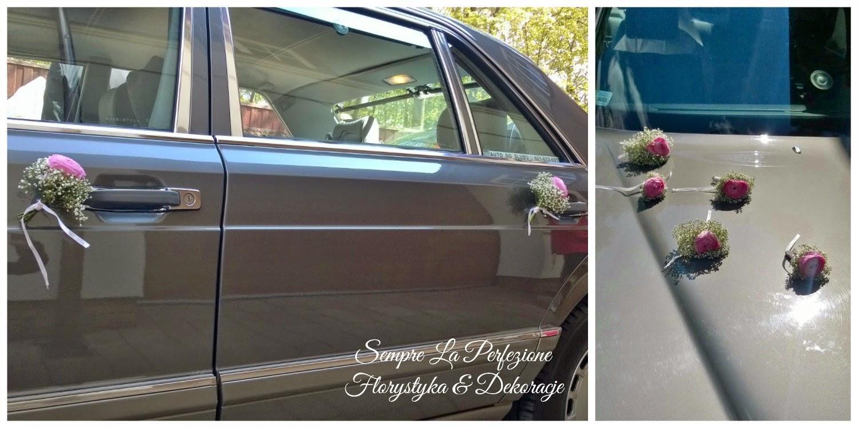 Ślubna dekoracja samochodu Sempre La Perfezione Florystyka & Dekoracje