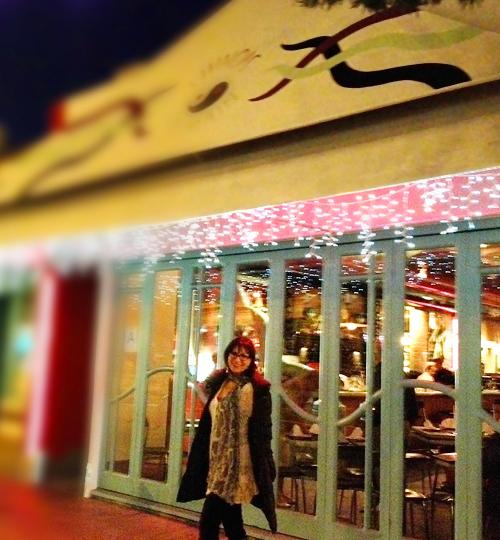 Susan Swerdloff outside Chinois-on-Main, Santa Monica