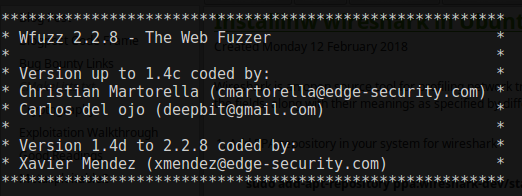 Sec-Art: Wfuzz : How to install, Configure and start with wfuzz in
