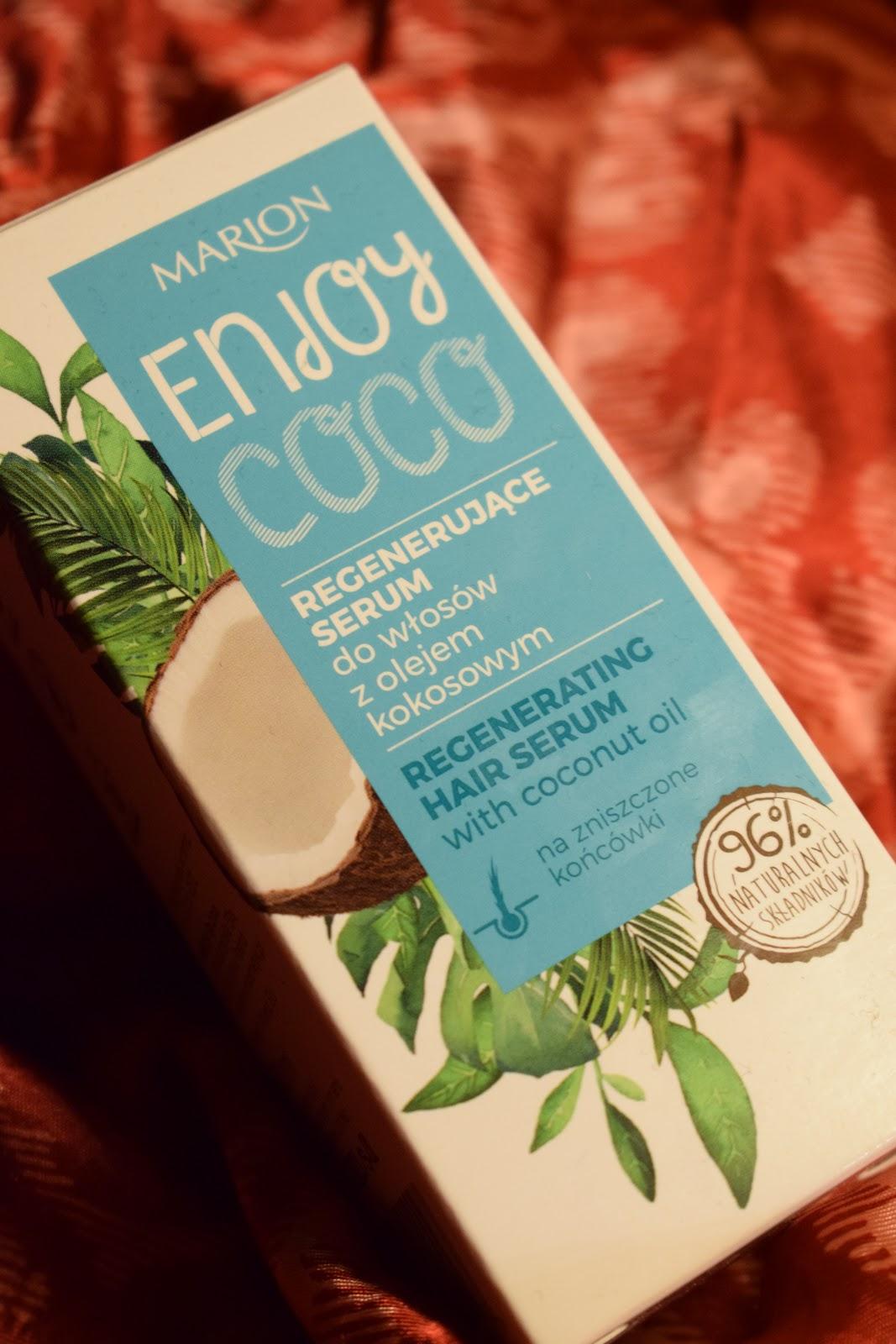 Marion Enjoy coco Regenerujące serum do włosów z olejem kokosowym