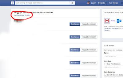 Cara Melihat Permintaan Pertemanan Facebook Yang Tidak Diterima