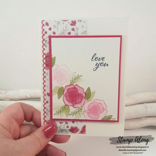 Stampin' Up! Forever Lovely valentijns kaart