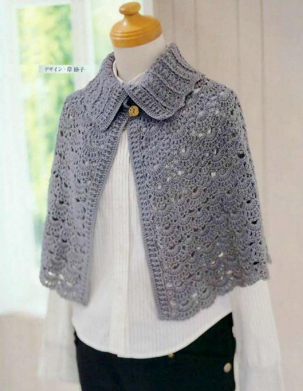 Crochet Cape Pattern - Classic  Cape For Winter