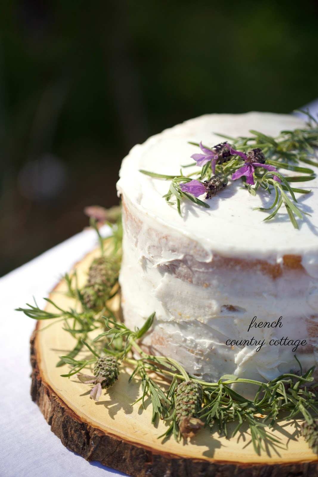 Simple summer berry topped rustic cake FRENCH COUNTRY