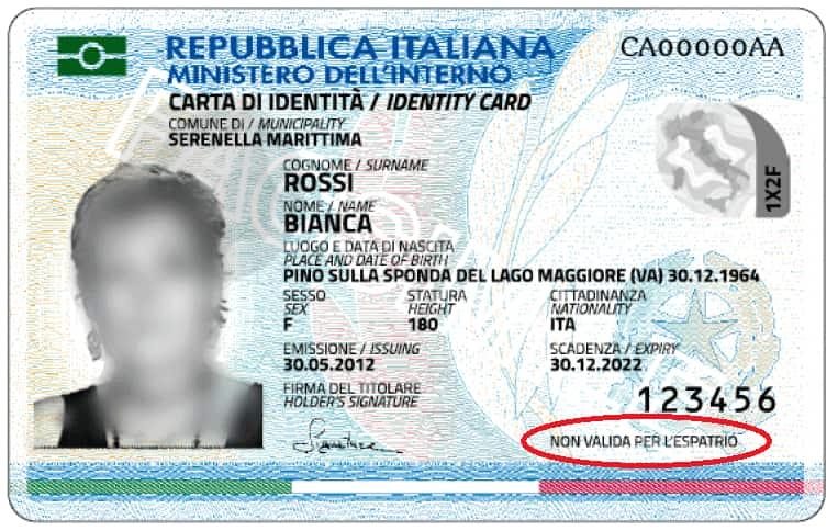 dni italiano carta de identita sin prenota online