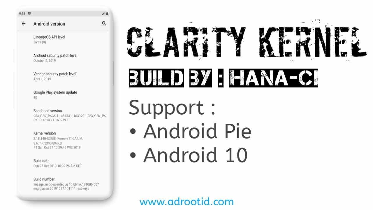 Kernel Clarity Redmi Note 4