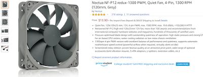 Noctua NF-P12 redux-1300 PWM, Quiet Fan, 4-Pin, 1300 RPM (120mm, Grey)