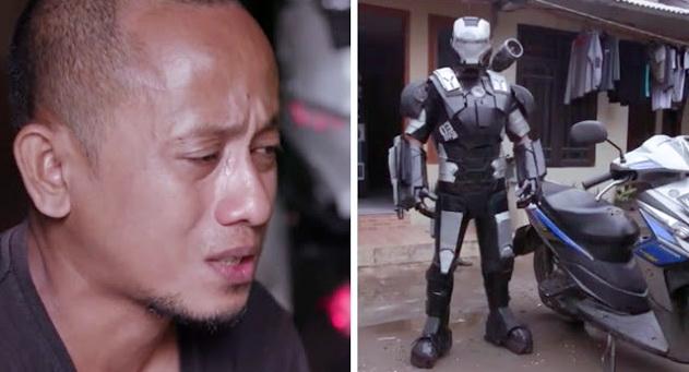 Manusia Robot Yang Kamu Kira Sedang Pamer Di Jalanan Ini Akan Membuatmu Menangis