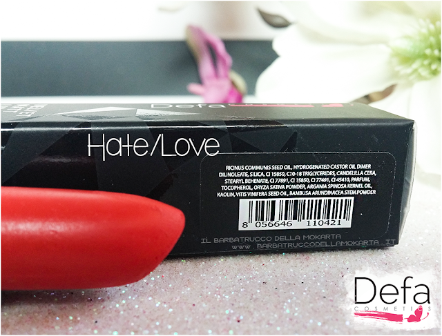 hate/love inci Defa cosmetics lipstick