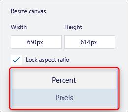 قائمة Pixel المنسدلة