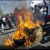 Realizan protesta en sector Valle Encantado de Villa Central en demanda de asfaltado de calles