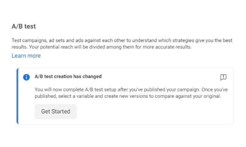 Facebook Ads AB Testing