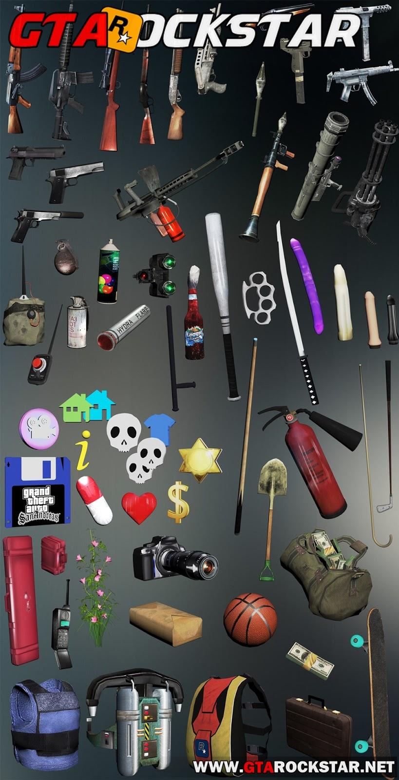 GTA SA - Pack de Armas Insanity HD (Altíssima Definição)